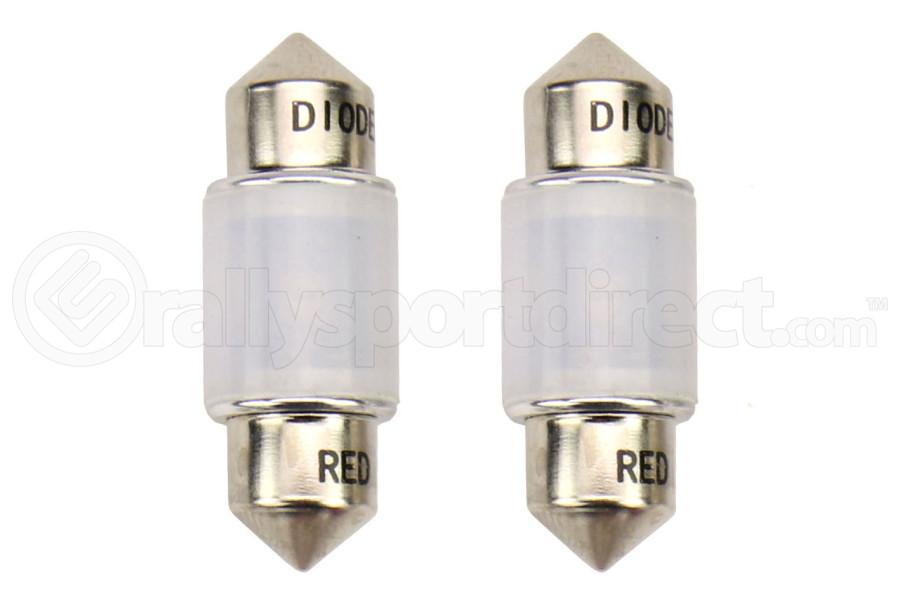 Diode Dynamics 31mm HP6 Red Bulb Pair - Subaru Models (inc. 2004-2020 WRX / 2000-2014 Outback)