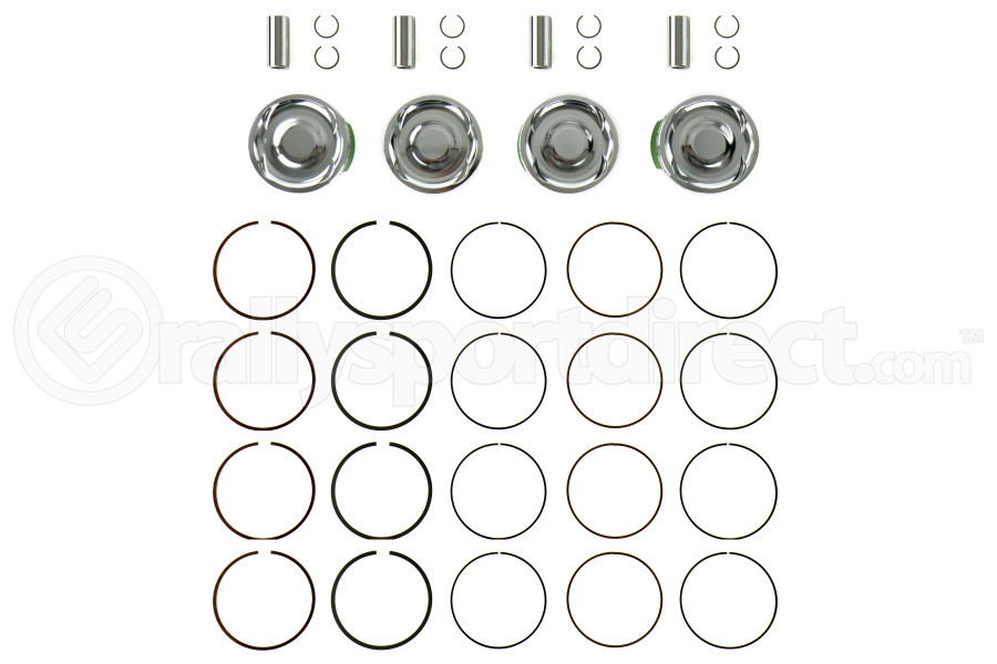 Cosworth Forged Pistons w/ Pins, Clips, and Rings 100mm Bore 8.2:1 (Part Number:10001432)