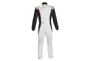Sparco Competition Racing Suit White / Black / Red - Universal