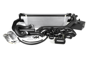 PERRIN Front Mount Intercooler Kit Black Piping/Silver Core (Part Number: )