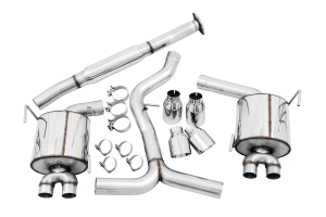 AWE Tuning Touring Edition Cat Back Exhaust Chrome Tips - Subaru WRX/STI Sedan 2011-2014 / STI 2015+