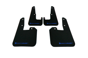 Rally Armor UR Mudflaps Black Urethane Blue Logo V2 ( Part Number:RAL MF15-UR-BLK/BL)
