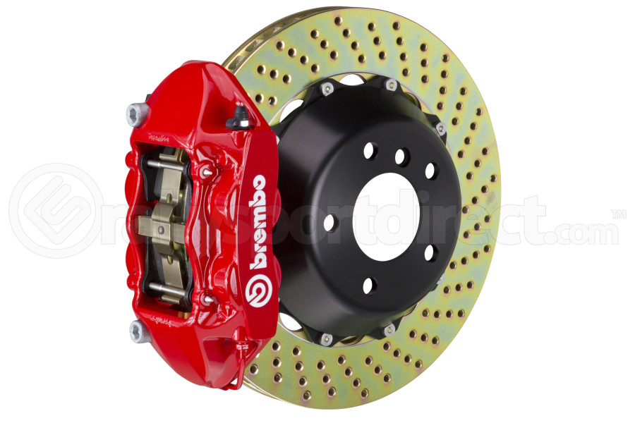 Brembo GT Systems 4 Piston Rear Big Brake Kit Red Drilled Rotors - Ford Mustang EcoBoost 2015+