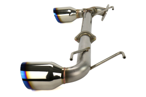 Remark Axle Back Exhaust Muffler Delete w/ Burnt Stainless Steel Double Wall Tips (Part Number: )