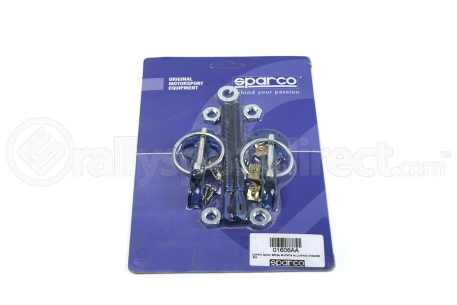 Sparco Hood Pins Blue Tuning ( Part Number:SPR2 01606AA)