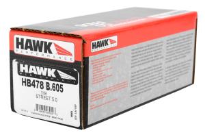 Hawk HPS 5.0 Rear Brake Pads - Ford/Mazda Models (inc. 2013-2014 Ford Focus ST / 2007-2013 Mazdaspeed3)