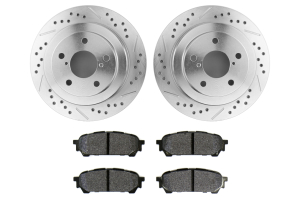 Hawk Performance Rotors w/ HPS 5.0 Pads Kit Rear (Part Number: )