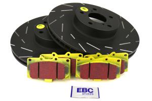 EBC Brakes S9 Front Brake Kit Yellowstuff Pads and USR Rotors - Subaru WRX 2006-2007