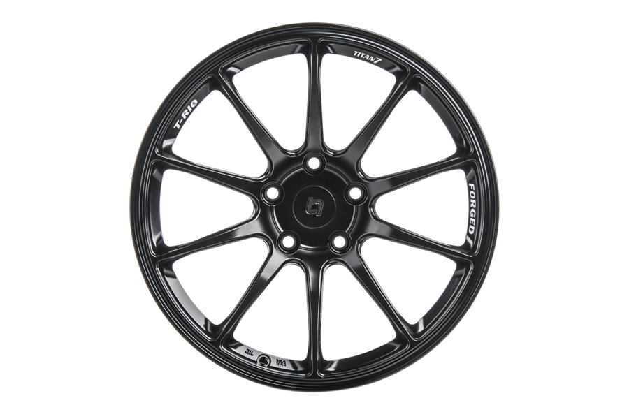 Titan 7 T-R10 18x10.5 +22 5x114.3 Machine Black - Universal