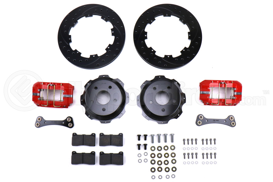 Wilwood Dynapro 12.19in Rear Kit Drilled / Slotted Red - Subaru Models (inc. 2002-2005 WRX)