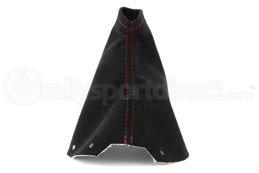 JPM Coachworks Shift Boot Black Alcantara Red Stitching ( Part Number:JPM 1202A40-R)