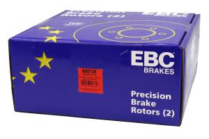 EBC Brakes BSD Series Sport V-Slotted Rear Brake Rotors - Subaru Models (inc. 2002-2005 WRX / 1998-2008 Forester)