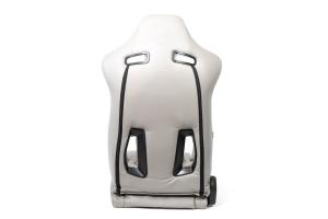 NRG Innovations The Arrow PVC Sports Seats Grey w/ Grey Stitching (Pair) - Universal