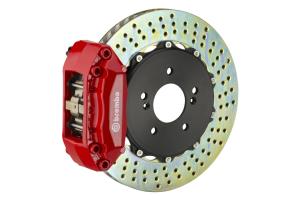 Brembo GT System 4 Piston Front Brake Kit Red Drilled Rotors - Volkswagen Models (inc. 2000-2005 GTI)