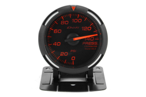 Defi Red Racer Pressure Gauge Imperial 52mm 140 PSI ( Part Number: DF06602)