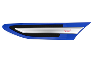 STI Front Fender Emblems World Rally Blue (Part Number: )