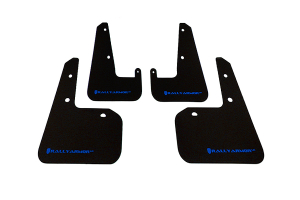 Rally Armor UR Mudflaps Black Urethane Blue Logo (Part Number: MF19-UR-BLK/BL)
