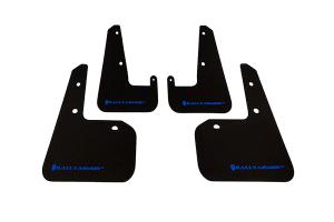 Rally Armor UR Mudflaps Black Urethane Blue Logo ( Part Number: MF19-UR-BLK/BL)