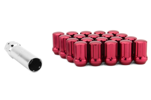 Gorilla Small Diameter Aluminum Closed End Red Lug Nuts 12x1.25 (Part Number: )