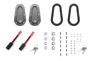 Aerocatch Hood Pins Flush Locking Carbon Look (Part Number: )