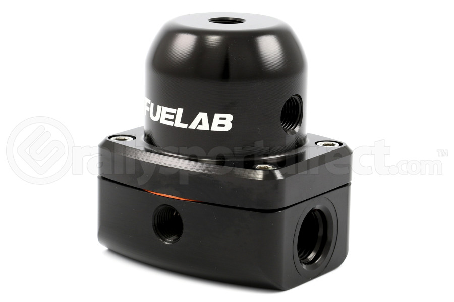 Fuelab Black EFI Adjustable Fuel Pressure Regulator In-Line (Part Number:52501-1)