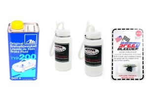 Brake Bleeding Kit w/ Speed Bleeders - Subaru Models (inc. 2002-2003 WRX)