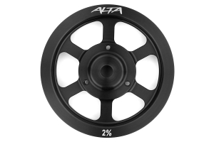 Alta Crank Pulley 2% Overdrive Black ( Part Number: AMP-ENG-520)