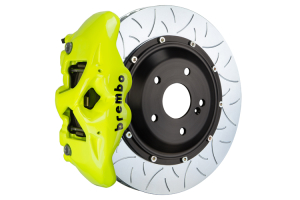 Brembo GT Systems Monobloc 4 Piston 345mm Type 3 Slotted Fluorescent Yellow - Honda Civic Type R 2017+