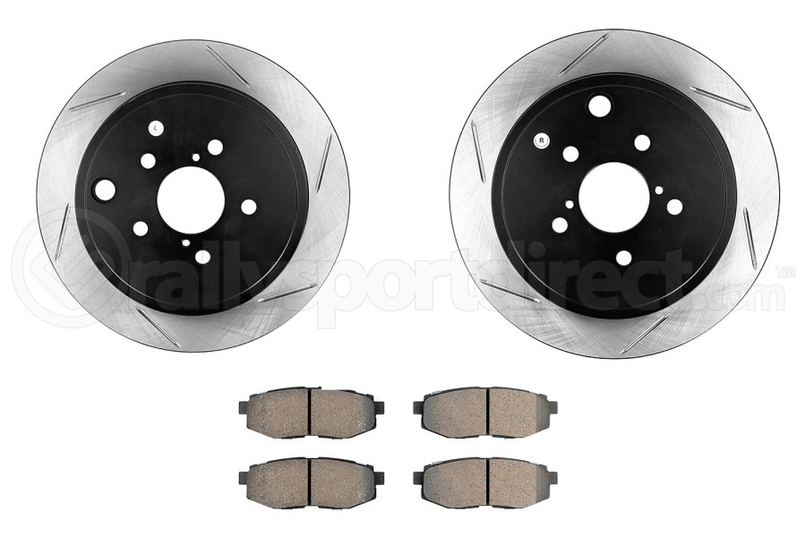 Stoptech Street Pack-Slotted Rear Rotor w/Pads ( Part Number:STP 937.47504)