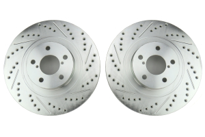 Stoptech C-Tek Sport Drilled and Slotted Front Rotor Pair - Subaru Models (inc. 2009-2014 WRX)