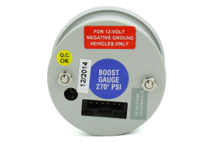 ProSport Boost Gauge Electrical w/Sender Blue/White 52mm ( Part Number:PRS 216BFWBEBOSM.PSI)