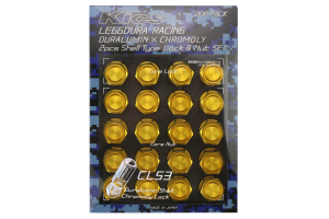 KICS Leggdura Racing Shell Type Lug Nut Set 53mm Closed-End Look 12X1.25 Gold - Universal