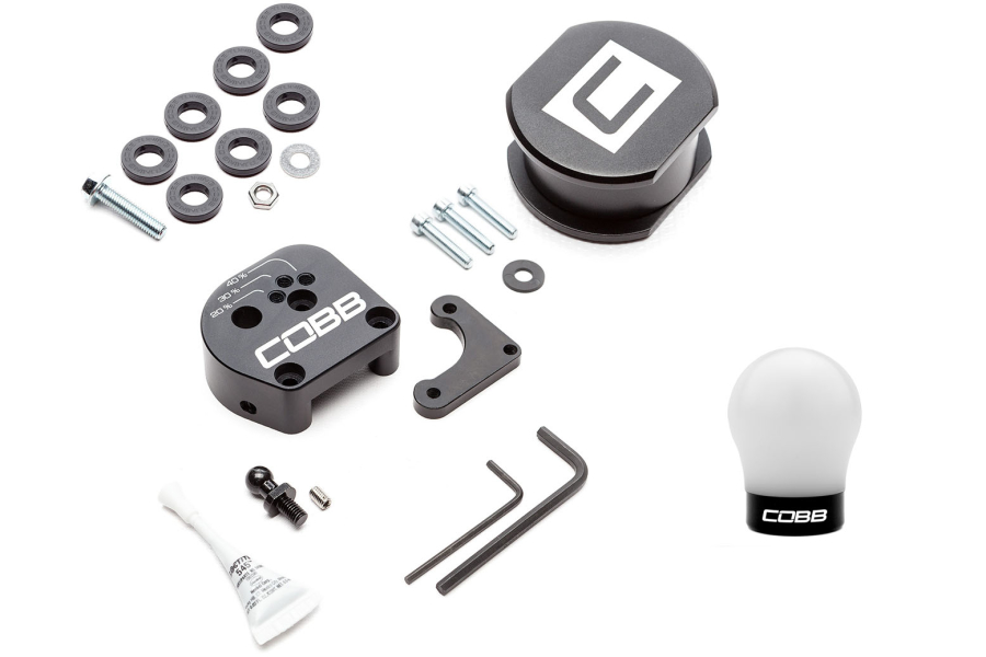 COBB Tuning Stage 1+ Drivetrain Package w/ White / Black Shift Knob - Ford Models (inc. 2013+ Focus ST / 2016+ RS)
