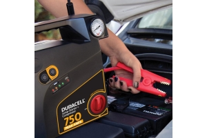 Duracell 750 Peak Amp Portable Emergency Jumpstarter with Compressor - Universal