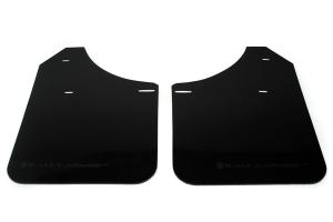Rally Armor UR Mudflaps Black Urethane Grey Logo (Part Number: )