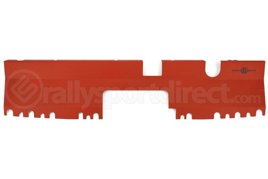 Process West Radiator Cover Red Non-Factory Intake - Subaru WRX/STI 2015+