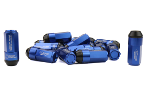 KICS Leggdura Racing Shell Type Lug Nut Set 53mm Closed-End Look 12X1.25 Blue - Universal