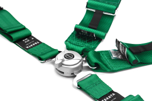 Takata Race 4 4-Point Harness Green Snap-On ( Part Number:TAK 71000-H2)