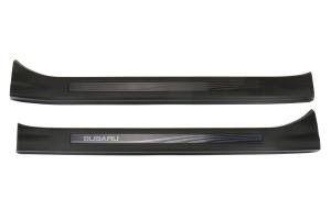 Subaru JDM S4 SporVita Black Etched Door Sills - Subaru WRX / STI 2015+