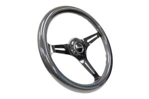 NRG Classic Wood Grain Wheel 350mm Black Chrome / Pearlescent - Universal