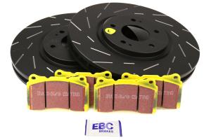 EBC Brakes S9 Front Brake Kit Yellowstuff Pads and USR Rotors - Mitsubishi Evo 8/9 2003-2006