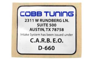 COBB Tuning Short Ram SF Intake System Blue - Subaru Legacy GT 2005-2009 / Outback XT 2005-2009