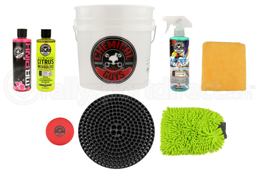 Chemical Guys Best Wash and Dry Bucket Kit (8pc) Black - Universal