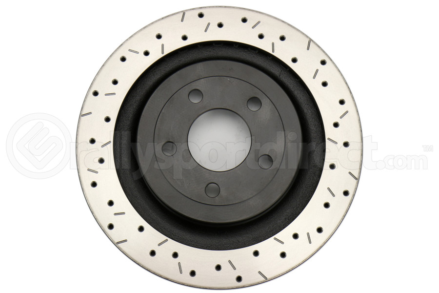 DBA 4000 Series Drilled and Slotted Rotor Rear - Ford Mustang EcoBoost/GT 2015+ (w/o Brembo Brakes)