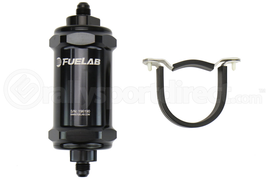 Fuelab 818/828 Series In-Line Fuel Filters Black ( Part Number:FUL 81831-1)