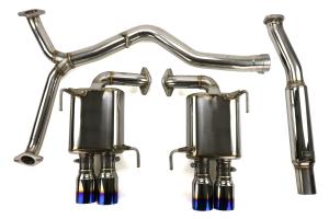 MXP SP Cat Back Exhaust Stainless Steel Burnt Tips - Subaru WRX / STI 2011-2020 Sedan