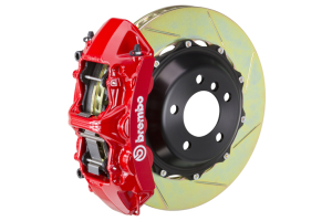 Brembo GT Systems Monobloc 6 Piston Front Big Brake Kit Red Slotted Rotors - Honda Civic Type R 2017+