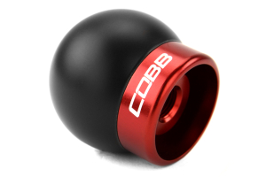 COBB Tuning Delrin Shift Knob Black/Red - Ford Mustang 2015+