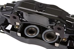 Stoptech ST-40 Big Brake Kit Front 332mm Black Slotted Rotors - Subaru Models (inc. 2002-2007 WRX)