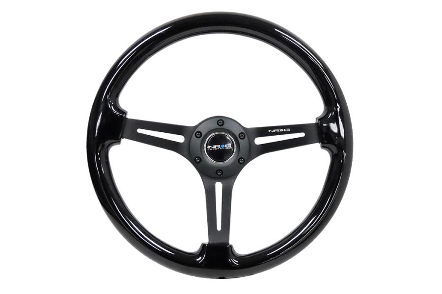 NRG Reinforced Classic Wood Grain Wheel 350mm Black - Universal
